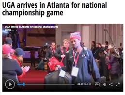wfxg tv reports georgia bulldogs arrive in atlanta for national