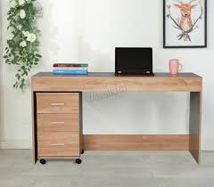 computer home office desk foxhunter computer desk pc table with 3 drawers home office