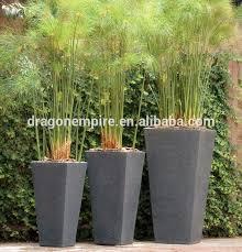 outdoor tall tapered fiber cement flower planters terracotta