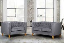 Grey Button Sofa Button Back Sofa Ebay