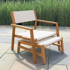 Teak Outdoor Furniture Atlanta by Sleek Modern Lines Meets Solid Teak And Durable Outdoor Mesh