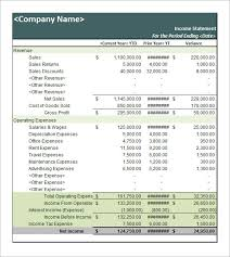 income statement template income statement template for excel