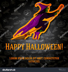 techno halloween background happy halloween greeting card witch on stock vector 153494144