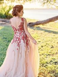 floral wedding dresses bold colors and a floral wedding dress for fall