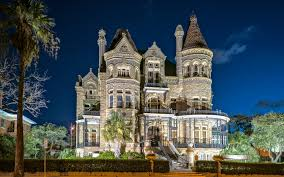 Mansion Design Images Texas Usa Galveston Mansion Night Time Cities 3840x2400