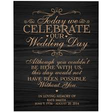 personalized in loving memory gifts in loving memory gifts personalized wedding memorial plaque in