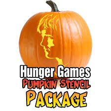 hunger games pumpkin stencil carving package ultimate pumpkin