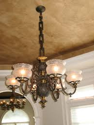 Gas Chandelier 6 Light Gas Chandelier Circa 1850 S Traditional Boston By