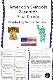 What Does The Usa Flag Represent American Symbols Research First Grade American Symbols Students