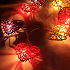 Red Heart Fairy Lights by 4m 20 Love Heart Rattan Led String Fairy Lights Wedding Party Xmas