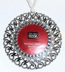 Silver Metal Christmas Decorations by Amazon Com Round Christmas Tree Ornament Photo Frame Enamel