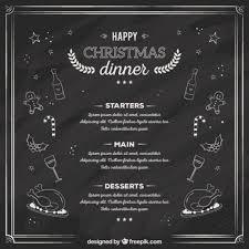 free vector sketchy christmas dinner menu on blackboard 29283