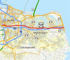 Virginia Map Cities by Virginia Beach Boulevard Wikipedia