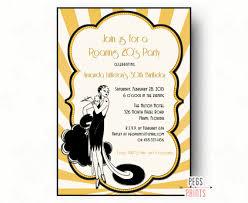 gatsby invitations roaring 20s invitation printable great gatsby birthday