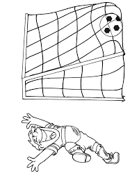 soccer coloring boy scoring goal
