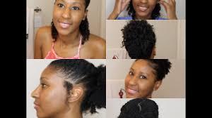 4 easy hairstyles for 4a 4b 4c hair short medium natural hair