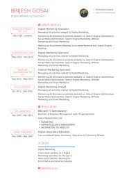 Example Of A Marketing Resume by Digital Marketing Resume Example Essaymafia Com