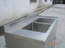 free standing commercial stainless steel kitchen sink bench with
