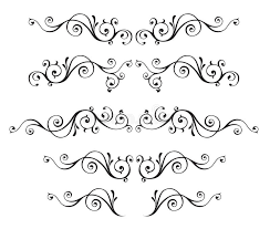 vintage ornamental vector frames set isolated on white stock