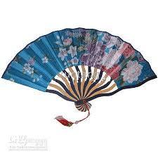 silk fan 7 tassel wedding bridal fan floral silk
