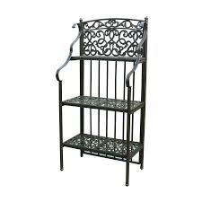 Bakers Rack Shelves Shop Darlee Antique Bronze Metal Bakers Rack At Lowes Com