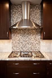 Transitional Naperville Kitchen Remodel Beautiful Stainless Hood - Tile mosaic backsplash