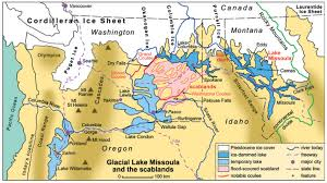 Map Of Eastern Oregon by The Great Missoula Floods