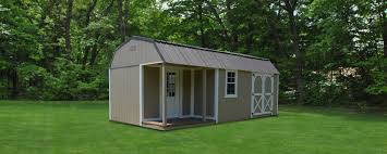 elite lofted cabin and side porch bennett building systems
