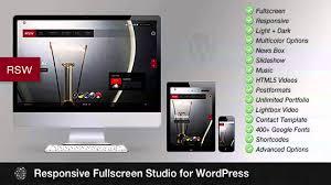 responsive fullscreen studio for wordpress website templates and