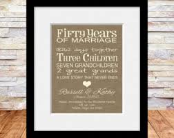 50 wedding anniversary gift ideas 50th wedding anniversary etsy
