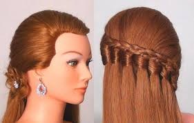 for long hair every day hairstyle tutorial falling knot braid