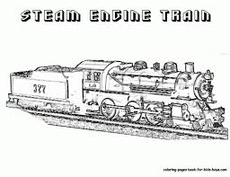 steam train coloring printable pages color