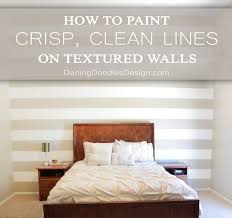how to paint crisp clean lines on textured walls darling doodles