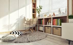 best home interior interior simple reading corner beige padded wooden chair best first