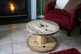 wood spool table and some wood burning andiamo