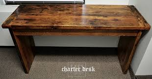 Plank Desk Simple Reclaimed Wood Desk U2013 Threshing Floor Gable Ends U2013 Toronto