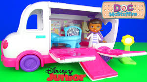 doc mcstuffins doc u0027s mobile clinic ambulance playset unboxing