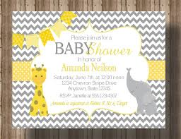 baby shower invitation chevron yellow and by traditionsbydonna