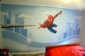 Cartoon Wall Painting In Bedroom Galaxy Creation Com