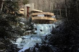frank lloyd wright waterfall frank lloyd wright u0027s fallingwater is frozen this rarely happens