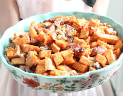sweet potato thanksgiving side dish brown sugar bacon roasted sweet potatoes tinselbox