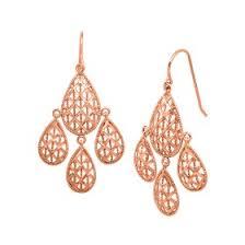 Chandelier Gold Earrings Rose Gold Earrings Jewelry Com