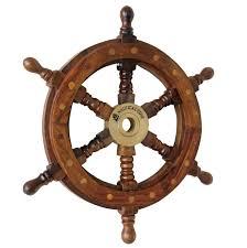 Pirate Decor For Home Nautical Cove Wooden Ship Wheel 18