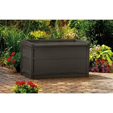 Suncast 50 Gallon Patio Bench by Suncast Resin 50 Gallon Deck Box With Seat Deks And Tables