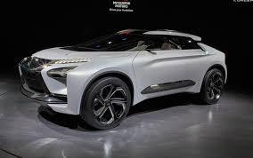 mitsubishi black cars mitsubishi e evolution concept electric suv for tokyo motor show