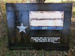 Subdued American Flag With Thin Blue Line Framed Thin Blue Line Texas Flag With Peacemakers Verse