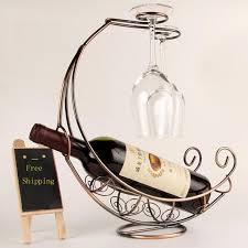 2018 onnpnnq creative fashion metal wine rack hanging wine glass