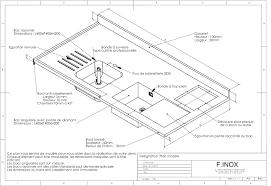 profondeur plan de travail cuisine de travail profondeur 3 avec cuisine inox sur mesure et modele