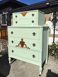chest painted with heirloom traditions chalk paint in luau green