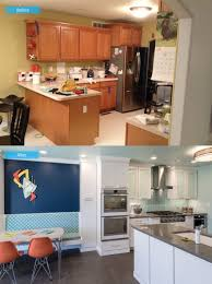 Kitchens Before And After Renovation Photos Before And After Photos Of A Happy Hip Family Kitchen Renovation